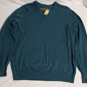 Eddie bauer cotton and cashmere sweater large tall